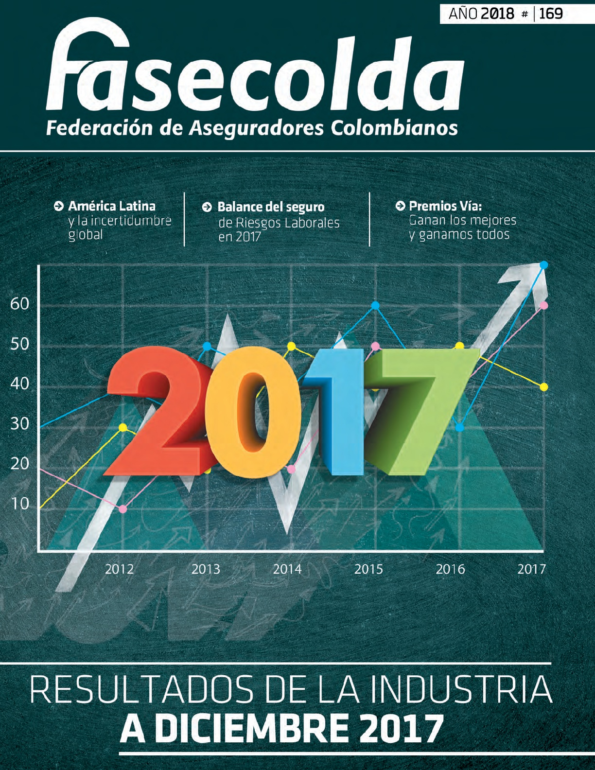 Fasecolda Federación de Aseguradores Colombianos Número 169 año 2018. Resultados de la industria a diciembre de 2017