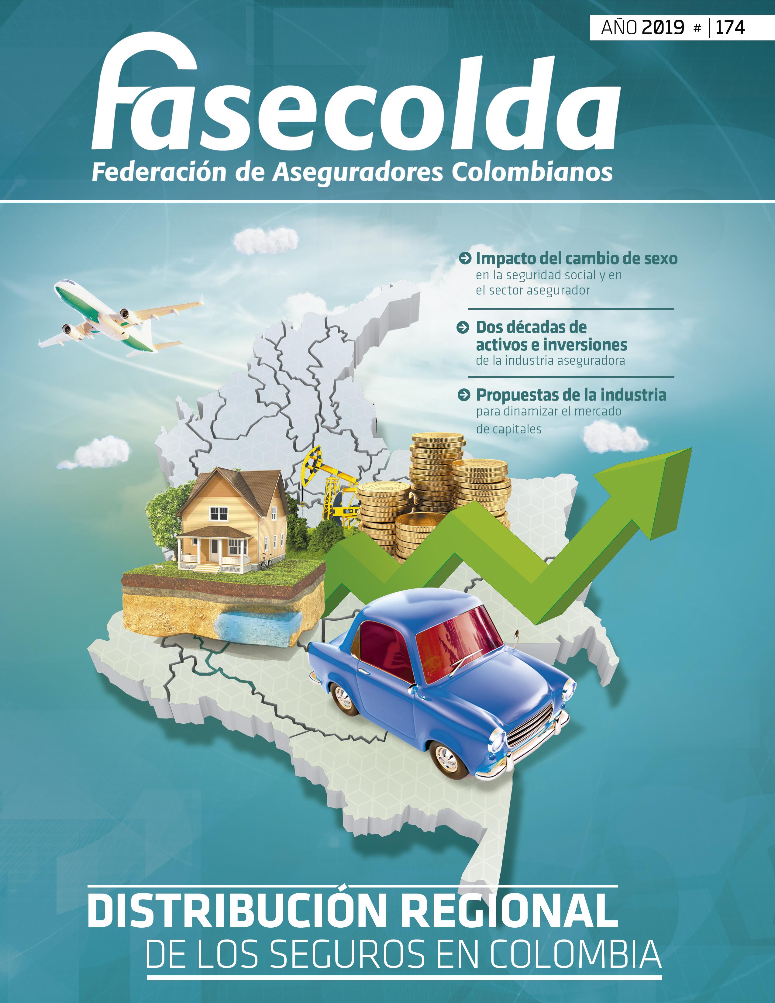 revista fasecolda_174_distribuci´ón regional de los seguros en colombia